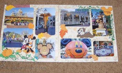 Disney Halloween scrapbook layout