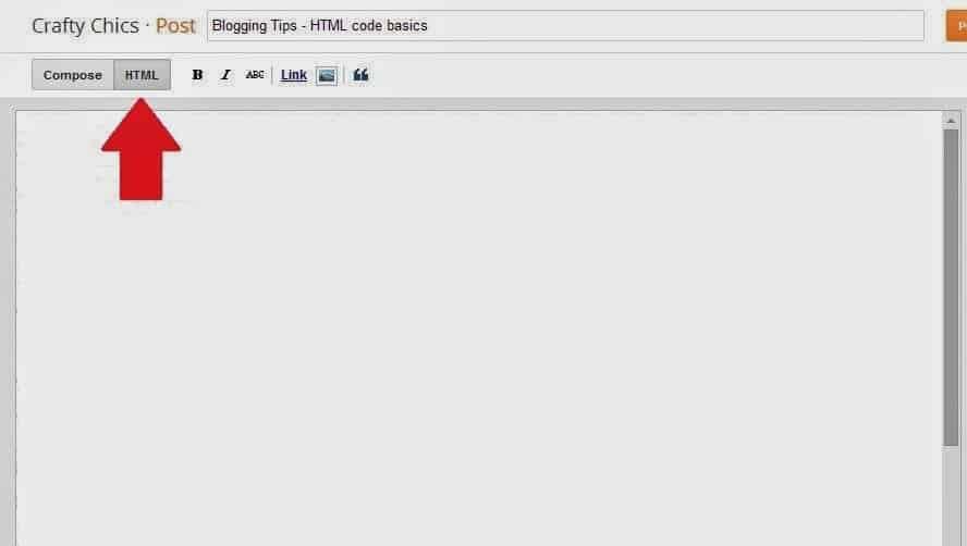 Blog HTML Empty
