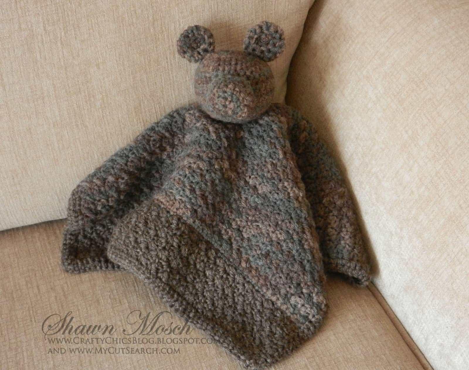 one skein baby project crochet teddy bear blanket