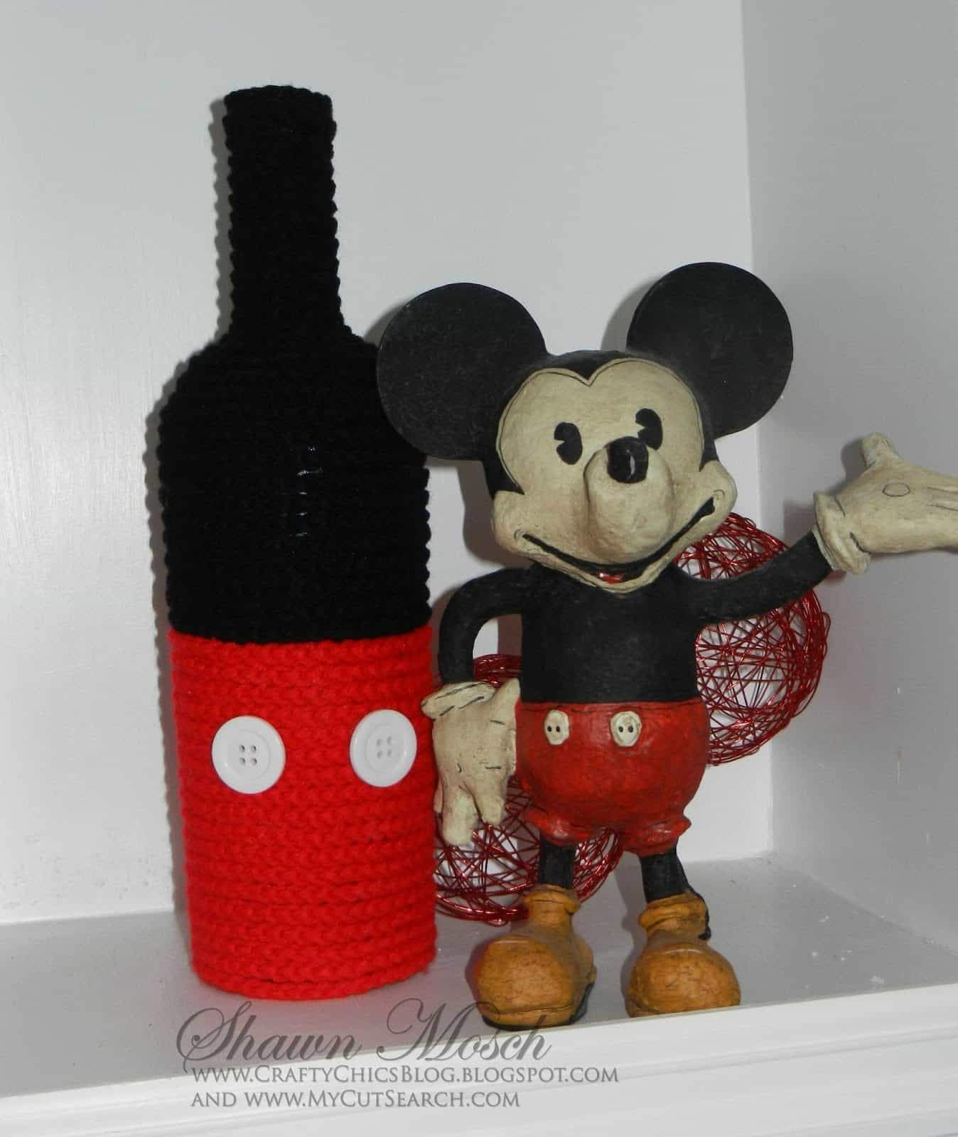 Mickey Mouse wine bottle