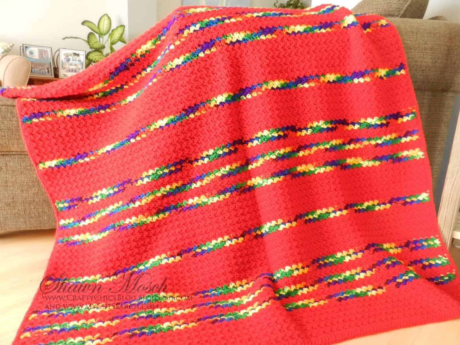 single crochet double crochet simple blanket