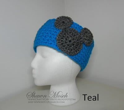 crochet Mickey Mouse Headband