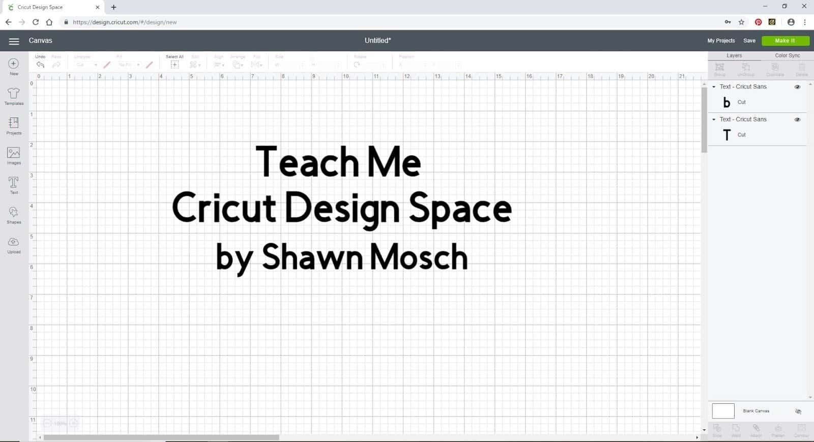 Teach Me Cricut Design Space Shawn Mosch
