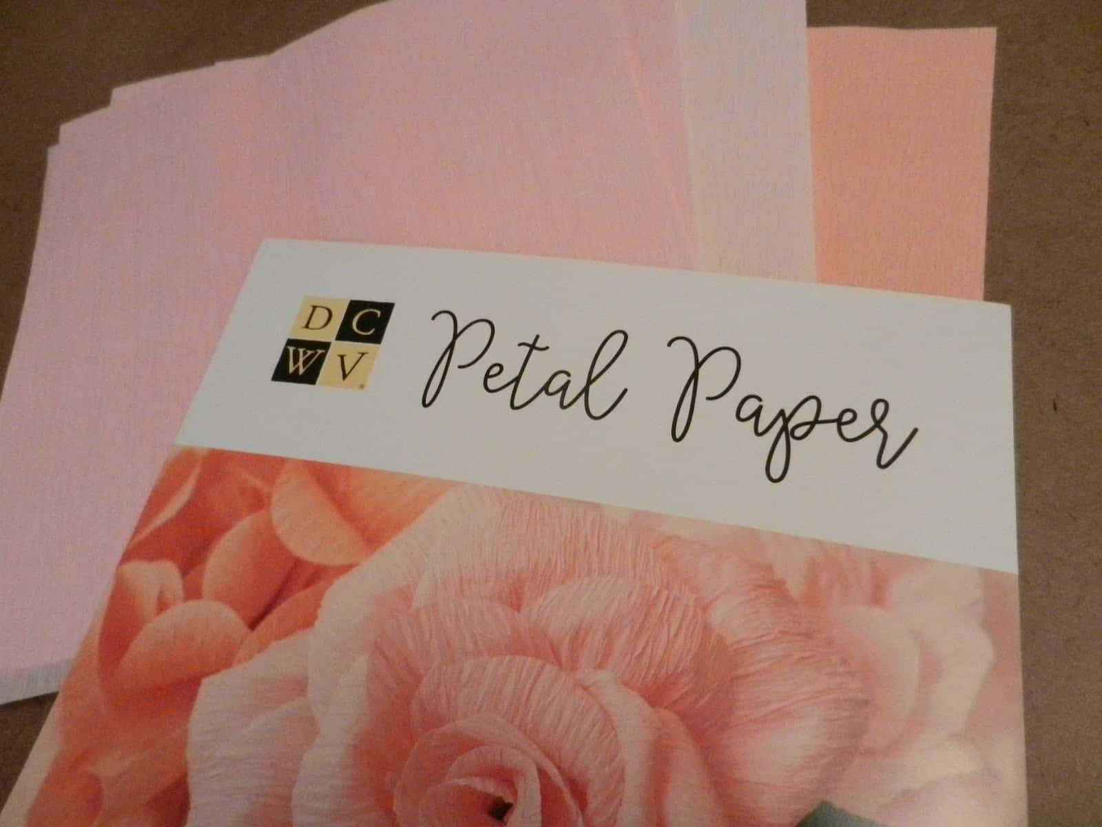 Petal Paper from DCWV
