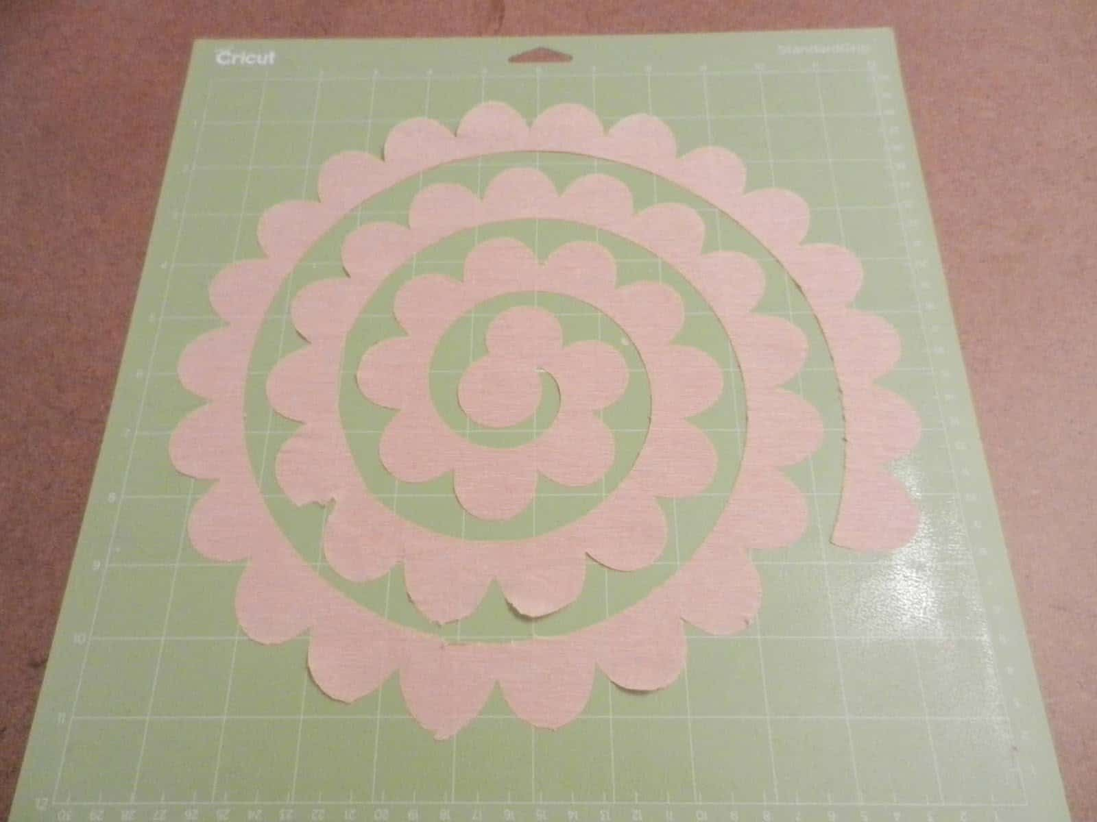 Cricut rolled flower