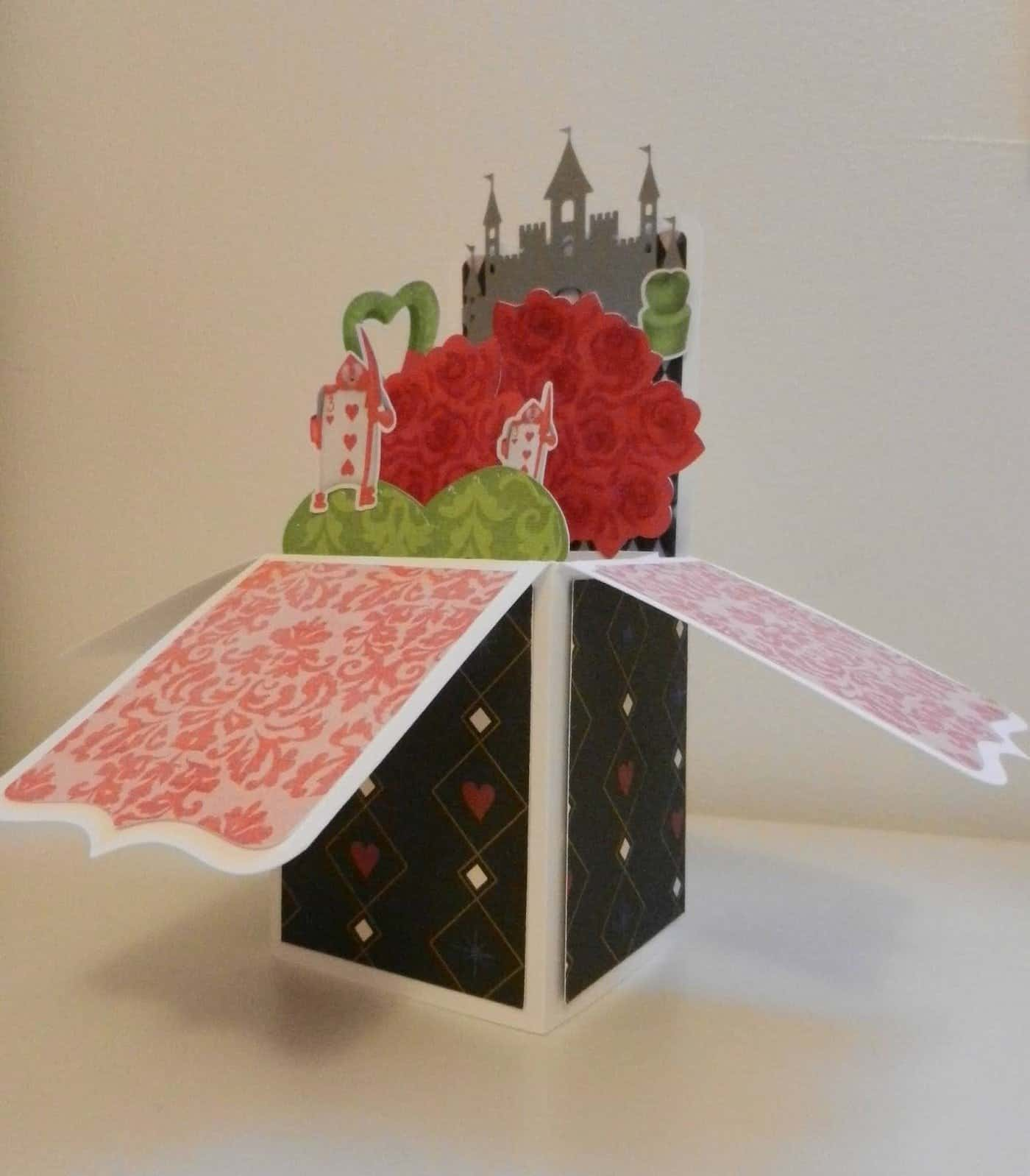 Alice in wonderland pop up box card