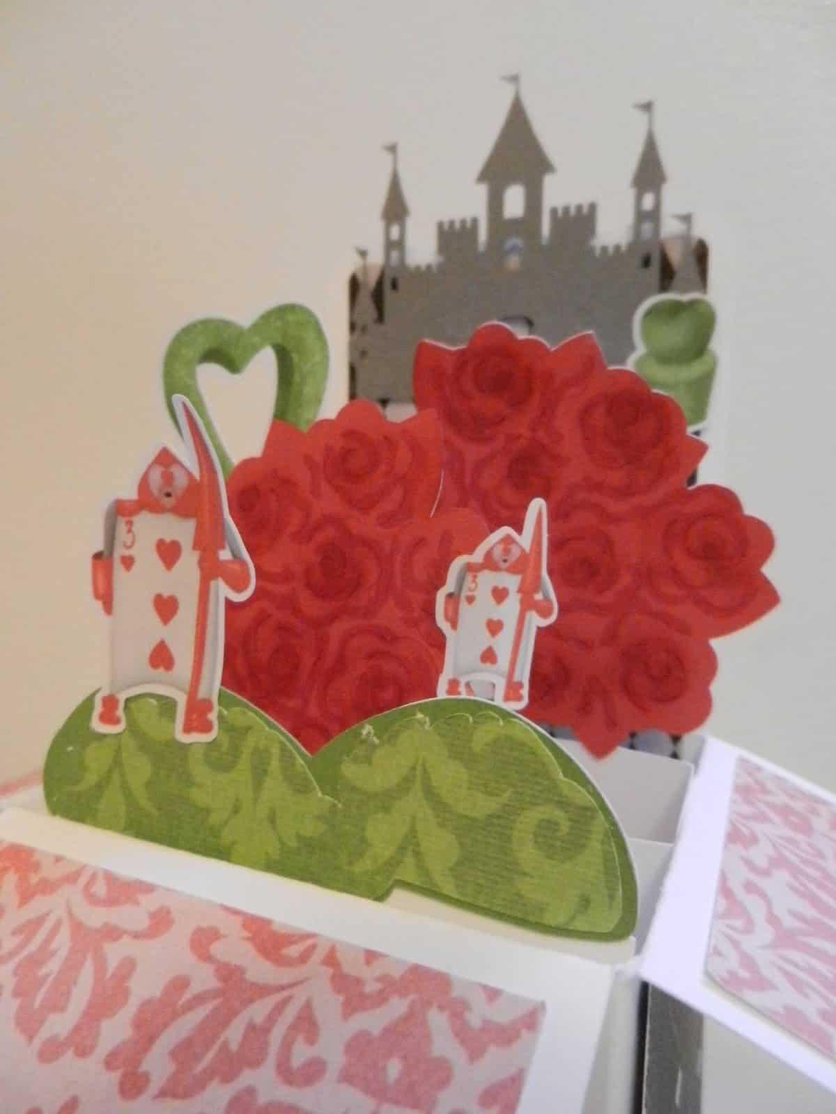 Alice in wonderland pop up box card