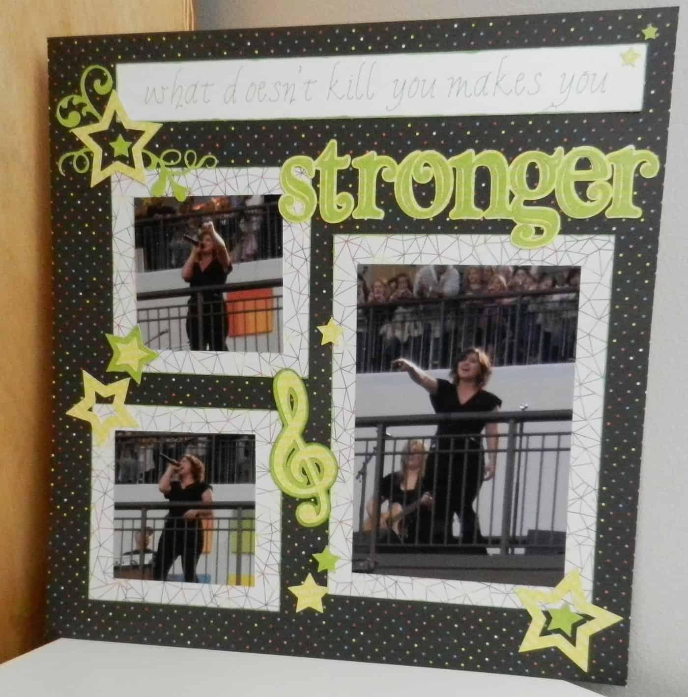 Kelly Clarkson concert scrapbook