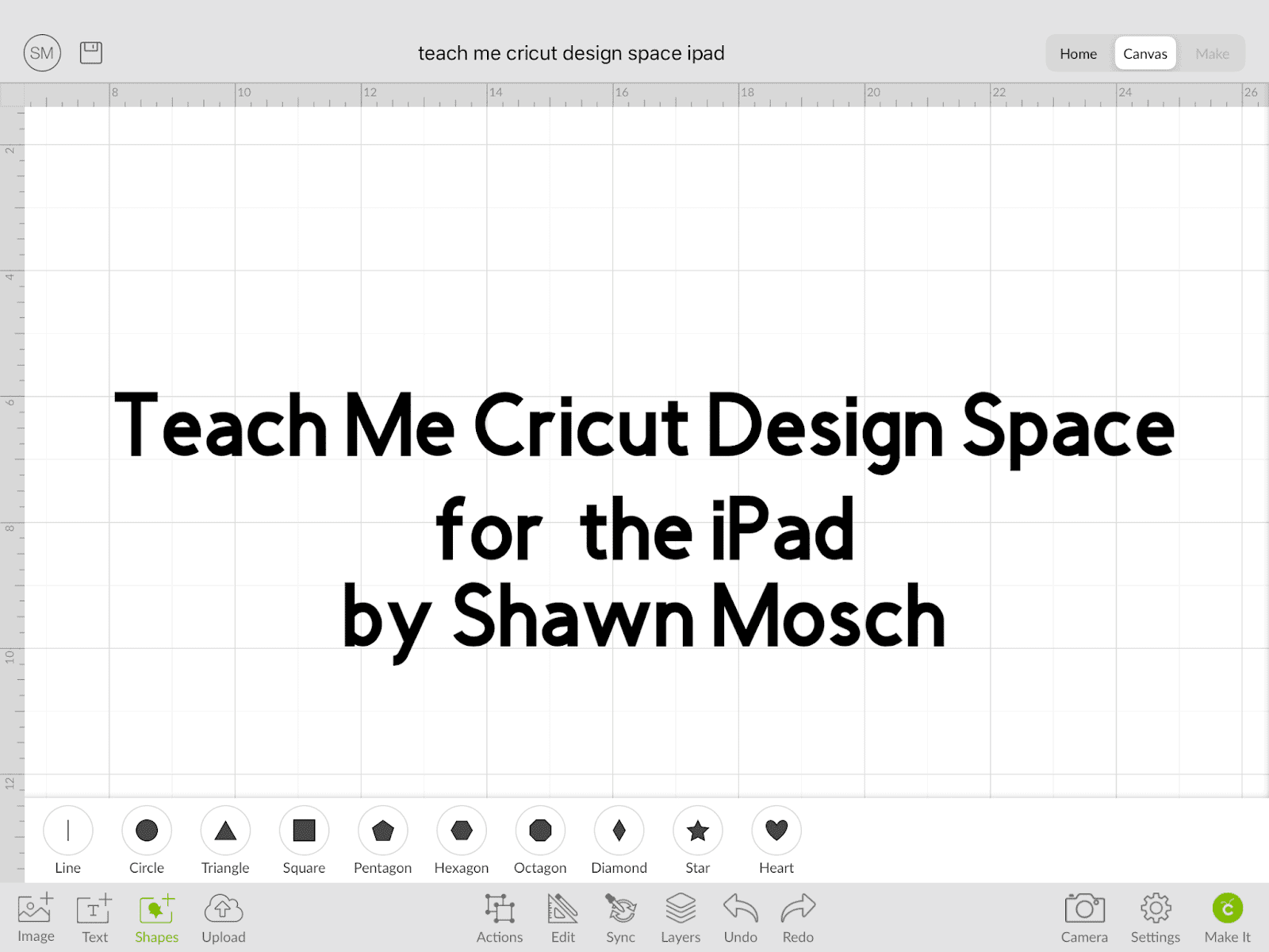 Teach Me Cricut Design Space for iPad