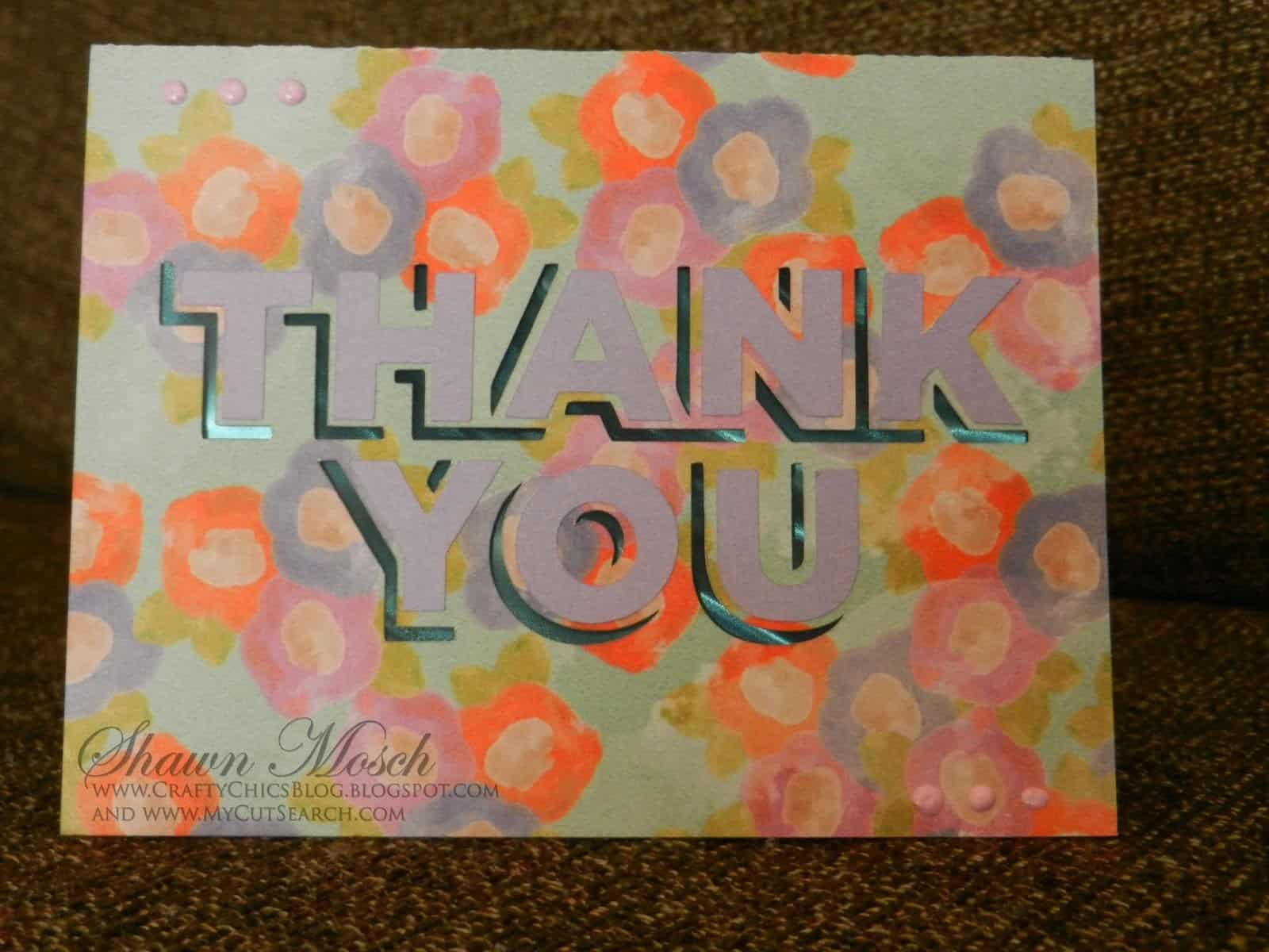 Thank you card Cricut Design Space