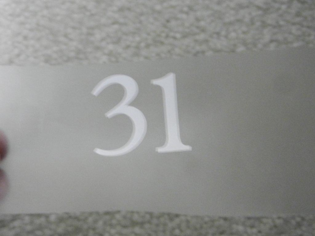 vinyl on clear contact paper