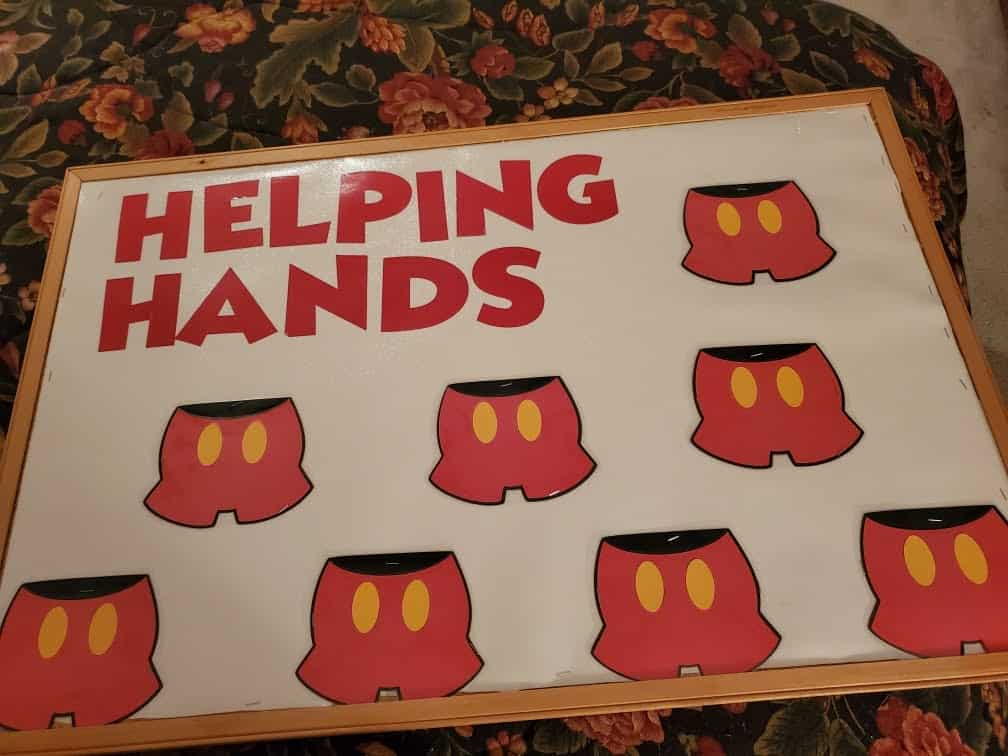 Disney Mickey Mouse Helping Hands classroom job chart